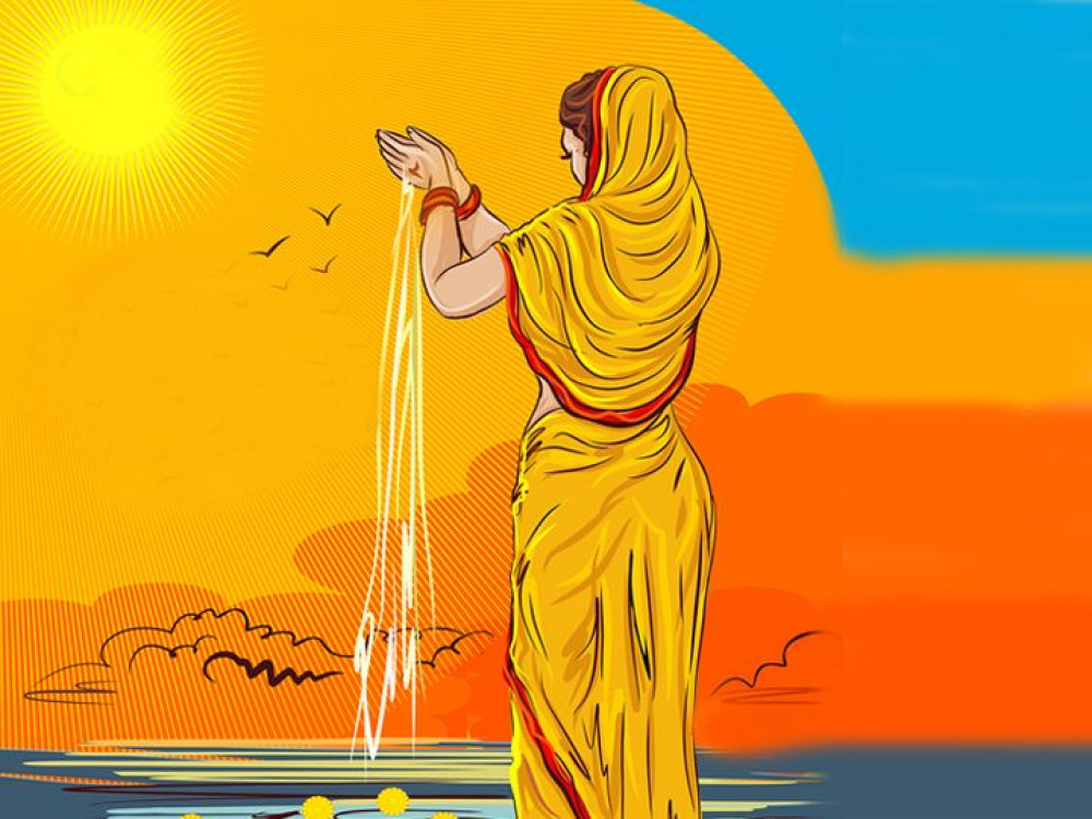 Chhath concludes by offering Argha to rising sun