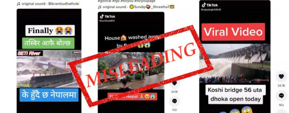 Foreign video clips circulating on TikTok as Nepal floods